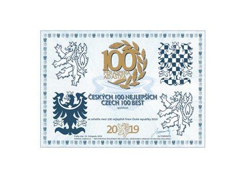 Českých 100 Nejlepších 2019