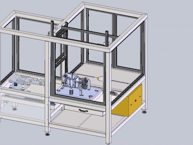 Roboterarbeitsplatz - Zelle 1 – Entwurf