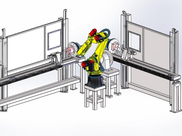 Roboterarbeitsplatz – Entwurf