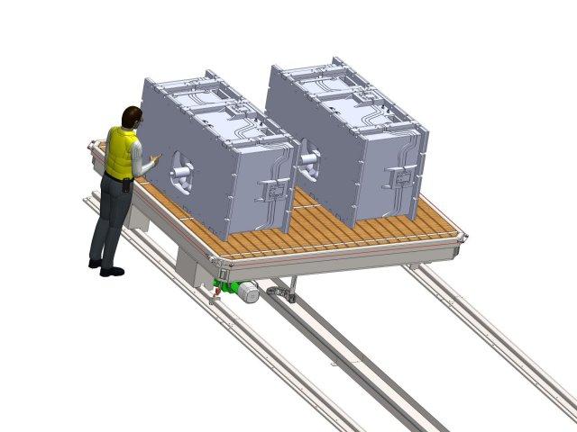 Handling carriage 40t - Design
