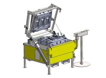 Pneumatic mould carriers